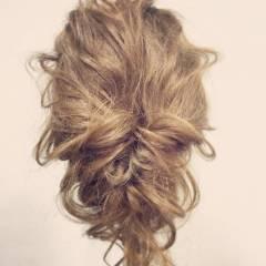 アップスタイル ゆるふわ ガーリー 愛され ヘアスタイルや髪型の写真・画像