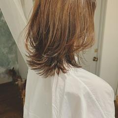 ネオウルフ グレージュ 大人ハイライト ミディアム ヘアスタイルや髪型の写真・画像