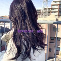 ブルーラベンダー ラベンダーカラー ヘアカラー ナチュラル可愛い ヘアスタイルや髪型の写真・画像