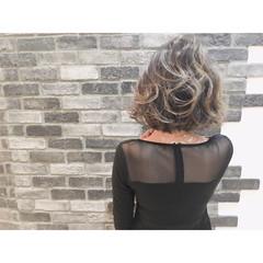 ガーリー 外国人風 ゆるふわ グラデーションカラー ヘアスタイルや髪型の写真・画像