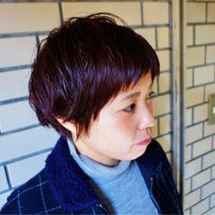 小顔 ショート ナチュラル 似合わせ ヘアスタイルや髪型の写真・画像