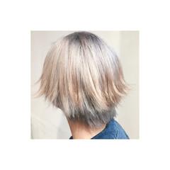 グラデーションカラー ショート モード 渋谷系 ヘアスタイルや髪型の写真・画像
