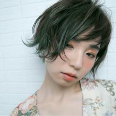 ハイライト ウェーブ アンニュイ かっこいい ヘアスタイルや髪型の写真・画像