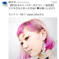 ピンク ピュア ボブ グラデーションカラー ヘアスタイルや髪型の写真・画像