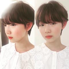 ショート 大人カジュアル 外国人風 小顔ショート ヘアスタイルや髪型の写真・画像
