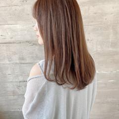 サラサラ 艶髪 N.オイル セミロング ヘアスタイルや髪型の写真・画像
