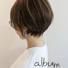 ショート ガーリー ヘアスタイルや髪型の写真・画像