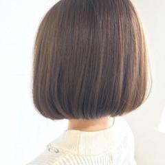 ボブ フェミニン ワンレングス ナチュラル ヘアスタイルや髪型の写真・画像