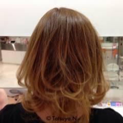 ミディアム ナチュラル ベージュ 渋谷系 ヘアスタイルや髪型の写真・画像