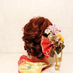 セミロング 謝恩会 簡単ヘアアレンジ 和装 ヘアスタイルや髪型の写真・画像