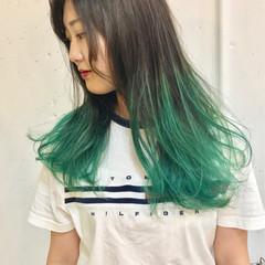 ロング カラーバター ハイトーン ストリート ヘアスタイルや髪型の写真・画像
