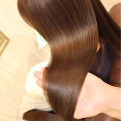 外国人風 カラートリートメント 艶髪 ナチュラル ヘアスタイルや髪型の写真・画像