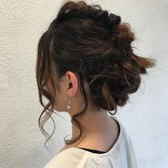 パーティ ルーズ セミロング ヘアアレンジ ヘアスタイルや髪型の写真・画像