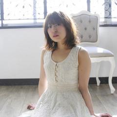 ミディアム 外国人風 ハイライト ブラウン ヘアスタイルや髪型の写真・画像