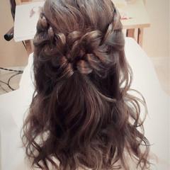 ショート フェミニン ヘアアレンジ セミロング ヘアスタイルや髪型の写真・画像