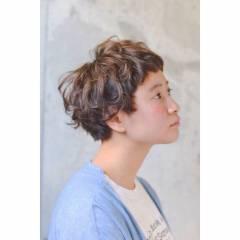 ストリート マッシュ ナチュラル ショート ヘアスタイルや髪型の写真・画像