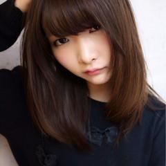 前髪あり ヘアアレンジ 暗髪 ナチュラル ヘアスタイルや髪型の写真・画像
