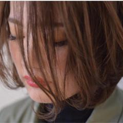グラデーションカラー ストリート ボブ ハイライト ヘアスタイルや髪型の写真・画像