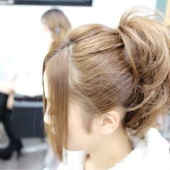 ヘアアレンジ ストリート セミロング ヘアスタイルや髪型の写真・画像