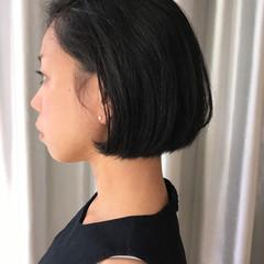 ボブ 外国人風 暗髪 黒髪 ヘアスタイルや髪型の写真・画像