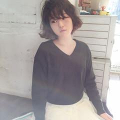 外国人風 ボブ ゆるふわ エアリー ヘアスタイルや髪型の写真・画像