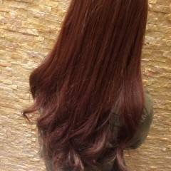 グラデーションカラー 外国人風 ロング 丸顔 ヘアスタイルや髪型の写真・画像
