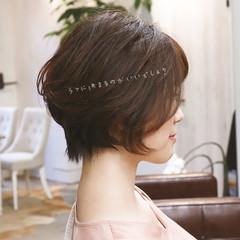 ショート ナチュラル デート アンニュイほつれヘア ヘアスタイルや髪型の写真・画像