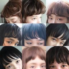 暗髪 外国人風 ナチュラル 前髪パーマ ヘアスタイルや髪型の写真・画像