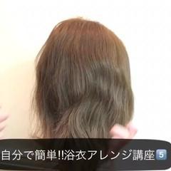 簡単ヘアアレンジ ヘアアレンジ セミロング 夏 ヘアスタイルや髪型の写真・画像