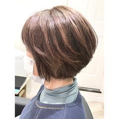 ハイライト 白髪染め ナチュラル 大人ハイライト ヘアスタイルや髪型の写真・画像