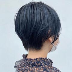 ショート ナチュラル ショートボブ デザインカラー ヘアスタイルや髪型の写真・画像