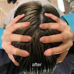 頭皮ケア ヘアケア 髪質改善トリートメント ヘッドスパ ヘアスタイルや髪型の写真・画像