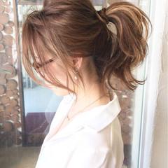 ポニーテール ショート 簡単ヘアアレンジ 外国人風 ヘアスタイルや髪型の写真・画像
