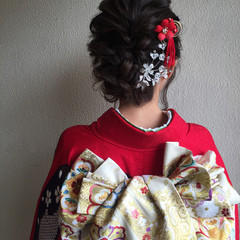結婚式 振袖 二次会 成人式 ヘアスタイルや髪型の写真・画像