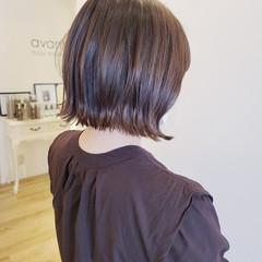 外ハネボブ ミニボブ 切りっぱなしボブ ヘアカット ヘアスタイルや髪型の写真・画像
