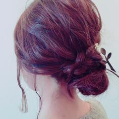 ヘアアレンジ ミディアム ルーズ シニヨン ヘアスタイルや髪型の写真・画像