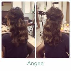 コンサバ モテ髪 ヘアアレンジ アップスタイル ヘアスタイルや髪型の写真・画像