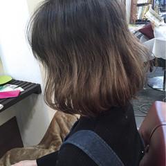 ナチュラル 大人かわいい グラデーションカラー ワンレングス ヘアスタイルや髪型の写真・画像