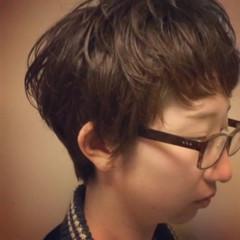ショート 小顔 ナチュラル マッシュ ヘアスタイルや髪型の写真・画像