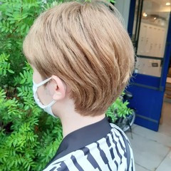 モード ウルフカット ショートボブ インナーカラー ヘアスタイルや髪型の写真・画像