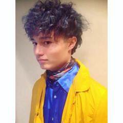 外国人風 グラデーションカラー パーマ ハイライト ヘアスタイルや髪型の写真・画像