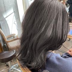 ストリート ミディアム ショートボブ 切りっぱなしボブ ヘアスタイルや髪型の写真・画像