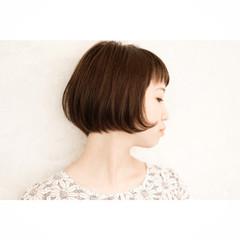 ベージュ ボブ ショートボブ 似合わせ ヘアスタイルや髪型の写真・画像
