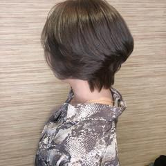 ショートボブ ショート コンサバ 透明感カラー ヘアスタイルや髪型の写真・画像