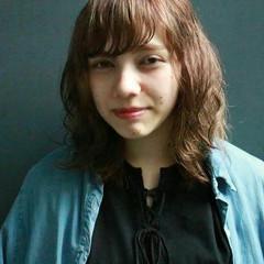 前髪あり 外国人風 ミディアム ナチュラル ヘアスタイルや髪型の写真・画像