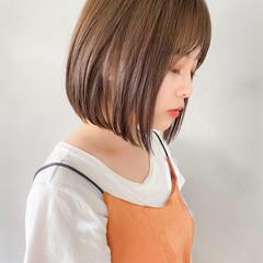 パーティ 透明感カラー 外ハネボブ ショートボブ ヘアスタイルや髪型の写真・画像