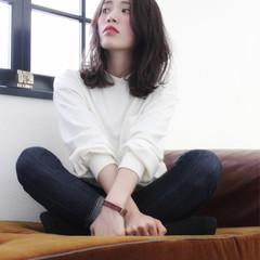 透明感 セミロング 大人かわいい フェミニン ヘアスタイルや髪型の写真・画像