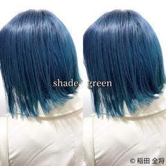 グリーン ストリート ヘアカラー ナチュラル可愛い ヘアスタイルや髪型の写真・画像