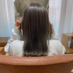 透明感カラー セミロング ナチュラル ベージュカラー ヘアスタイルや髪型の写真・画像
