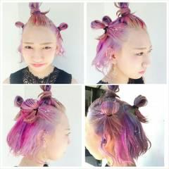 ストリート 春 パンク ボブ ヘアスタイルや髪型の写真・画像